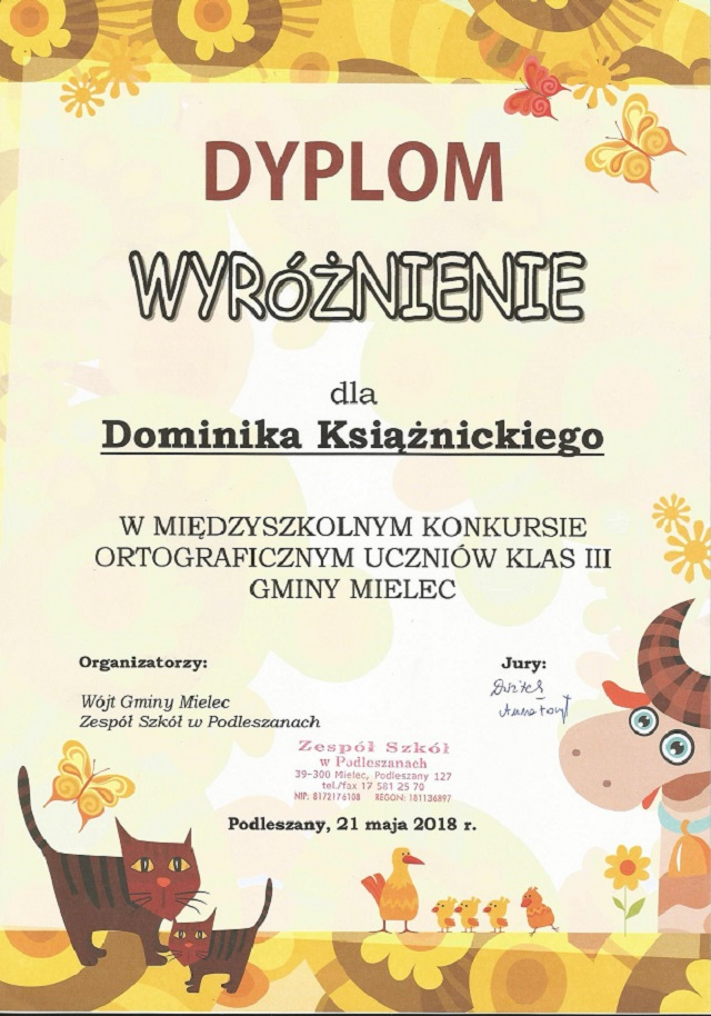 You are browsing images from the article: Gminny konkurs ortograficzny uczniów klas III – 21.05.2018