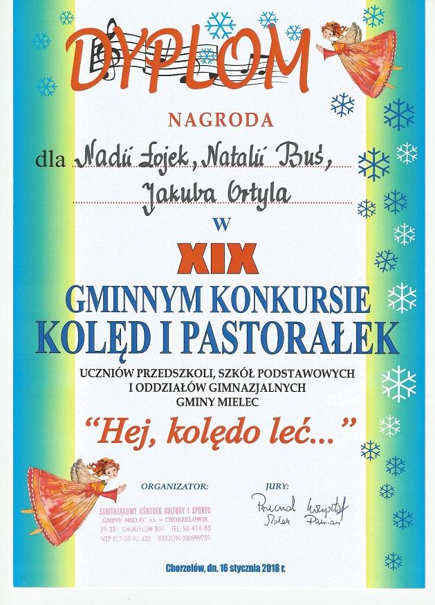 """You are browsing images from the article: Gminny konkurs muzyczny """"Hej, kolędo leć…"""" – 16.01.2018"""