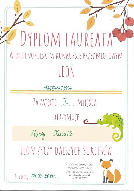 "You are browsing images from the article: Ogólnopolski Konkurs Przedmiotowy ""LEON"" – 4.02.2019"