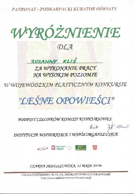 """You are browsing images from the article: Wojewódzki Konkurs Plastyczny """"LEŚNE OPOWIEŚCI"""" – 15.05.2019"""