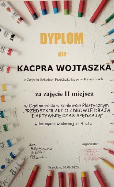 """You are browsing images from the article: Ogólnopolski Konkurs Plastyczny """"Przedszkolaki o zdrowie dbają i aktywnie czas spędzają"""" – 5.06.2020"""