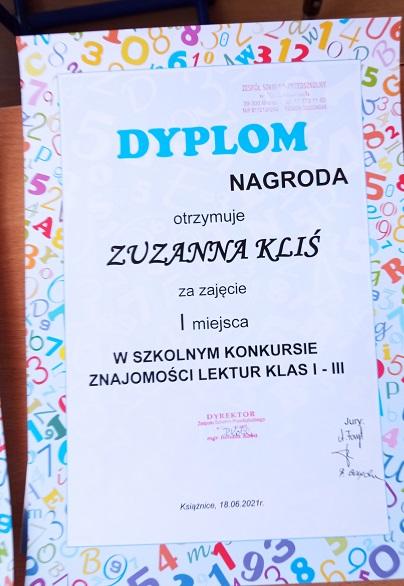 You are browsing images from the article: Szkolny konkurs znajomości lektur klas I-III - 18.06.2021